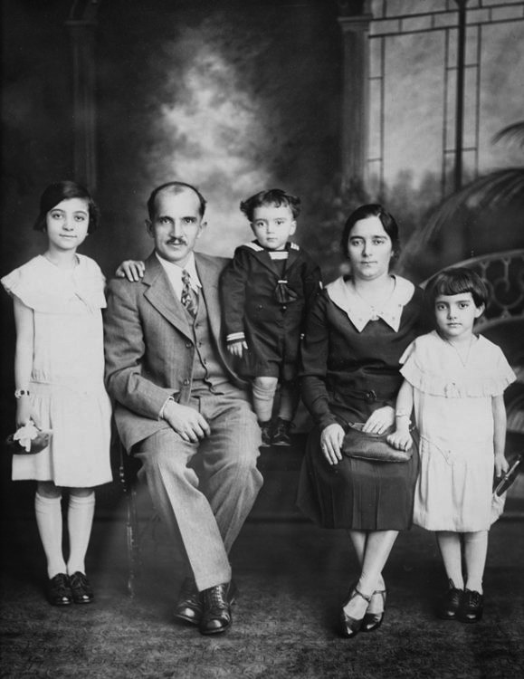 Liberty Paterakis (left) and her family.