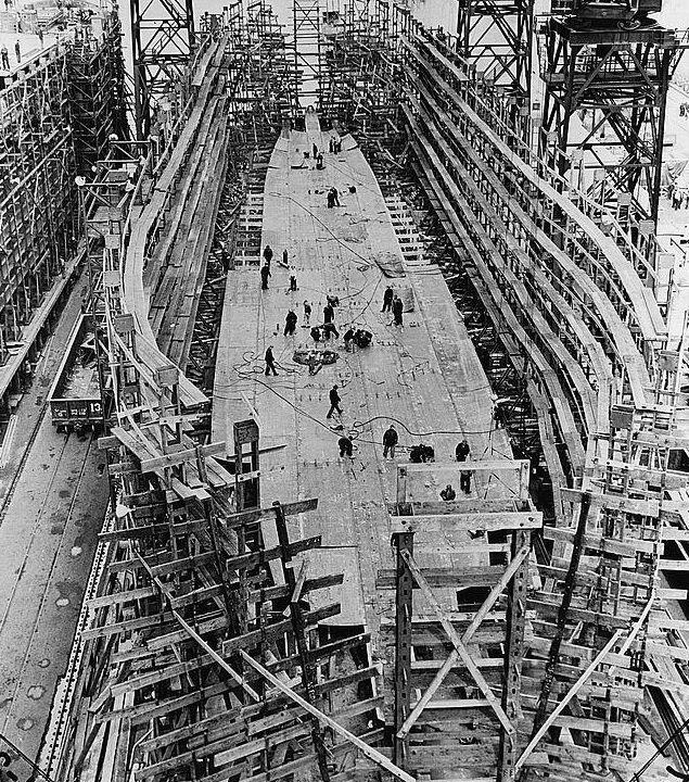 Ships being constructed at the historic Bethlehem Shipyard.