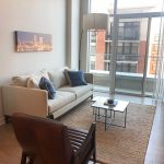 Liberty Harbor East Guest Suite living room